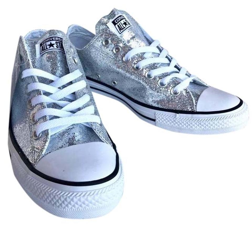 Converse Silver Chuck Taylor Star Low Top All Star Taylor Sneakers 57fa60