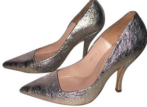 Dries van Noten Silver Pumps