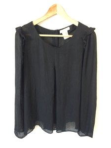 Chloé Minimal Elegant Silk Top Black