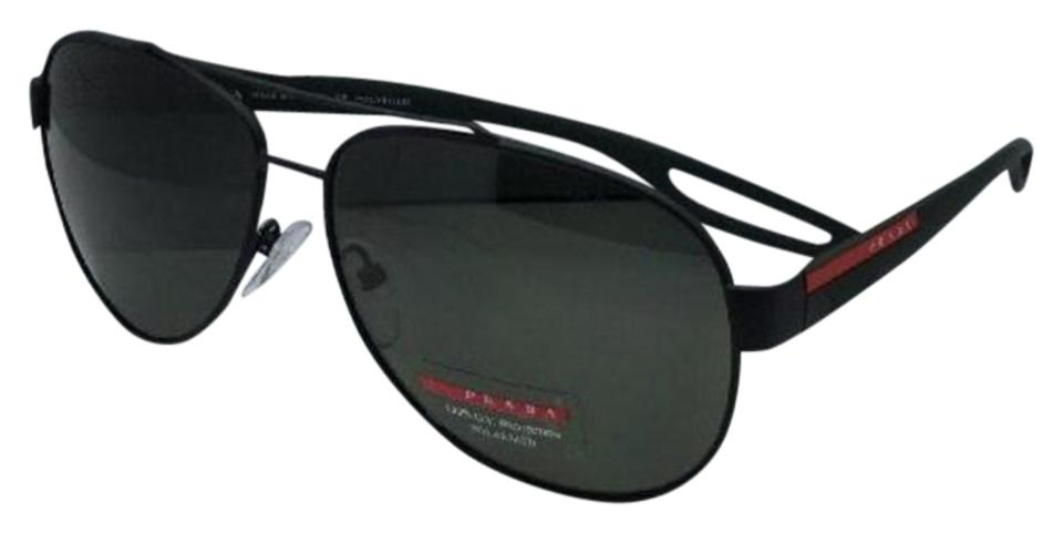 cd6b7800a6 Prada Polarized PRADA Sport Sunglasses SPS 55Q DG0-5X1 Black Rubber w   Green Image ...
