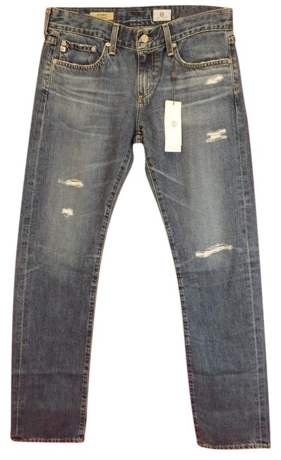 Item - Blue Light Wash Tomboy Straight Relaxed Fit Jeans Size 24 (0, XS)