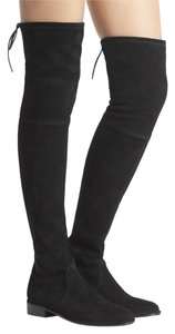 Stuart Weitzman Thigh High Leather Black Boots
