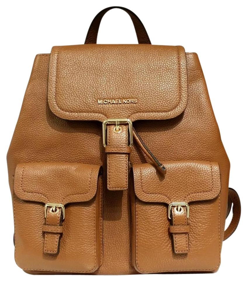 f05f69c7b4e10b Michael Kors Susie Vs Cooper Large Brown Leather Backpack - Tradesy