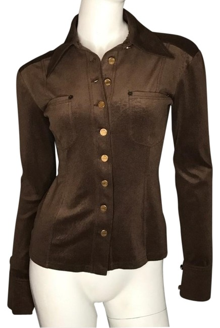 Item - Stretchy Button-down Top Size 4 (S)