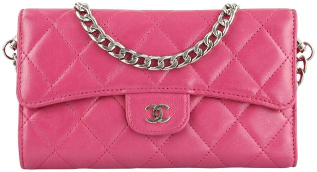 Item - Pink Classic Flap With Chain Added Wallet