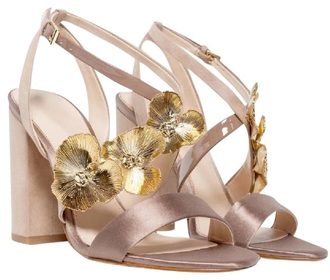 Item - Nude High with Floral Detail Sandals Size US 7 Regular (M, B)