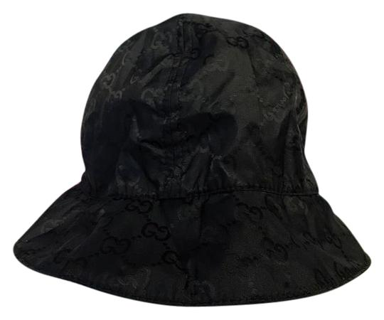 gucci black gg nylon bucket hat on tradesy. Black Bedroom Furniture Sets. Home Design Ideas