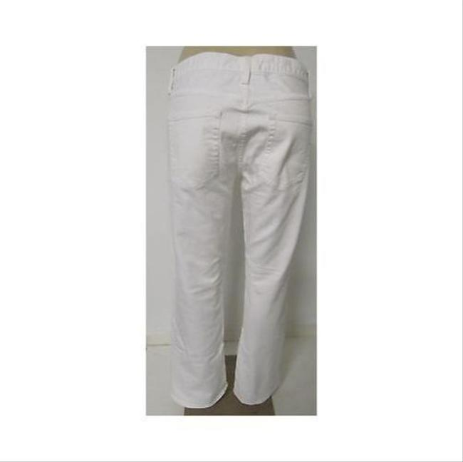 J.Crew Womens White Denim Pants Short Boot Cut Jeans