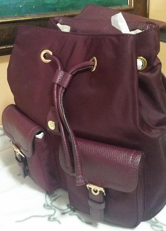 271f22fb6a7a Michael Kors Susie Vs Cooper Large Nylon Plum Leather Backpack - Tradesy