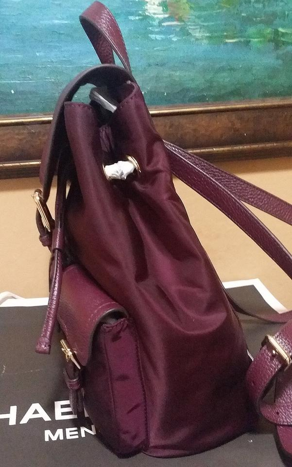 1471a165aae62b Michael Kors Susie Vs Cooper Large Nylon Plum Leather Backpack - Tradesy