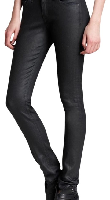 Item - Black Coated The Skinny Jeans Size 28 (4, S)