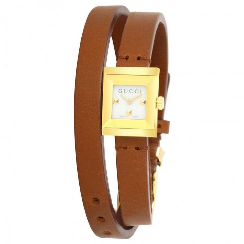 Gucci Brown Mop G-frame Dial Wrap-on Ladies Leather Watch - Tradesy