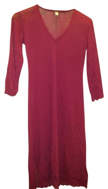 Item - Wine In Italy Sheer Slinky Long Night Out Dress Size 10 (M)
