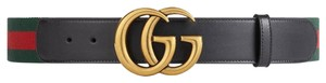 Gucci BRAND NEW Gucci Unisex Web Belt with Double G Buckle Belt - Size 80