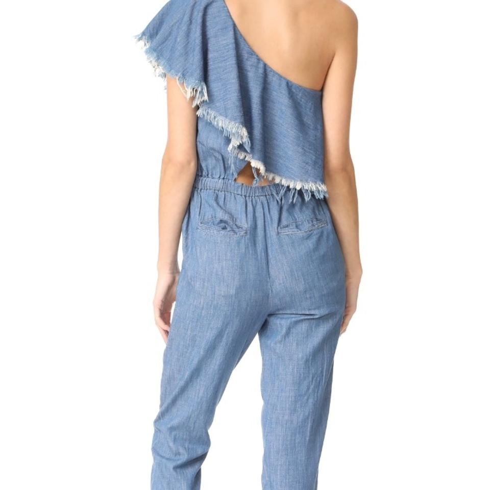 95b486b0fee BlankNYC One Shoulder Romper Jumpsuit - Tradesy