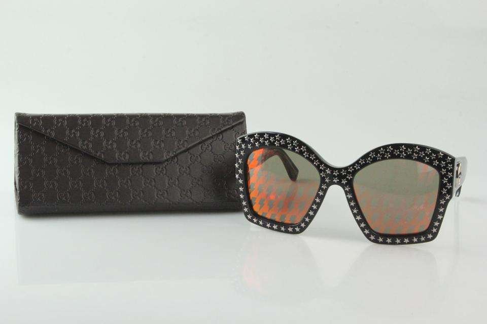 db8632d395 Gucci Black Star Studded Oversized Sunglasses - Tradesy