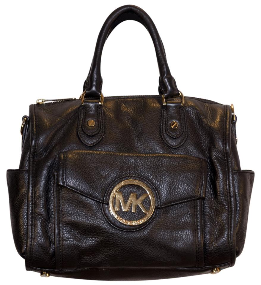 8f1ae9cfbf019d Michael Kors Margo Pebbled Leather Hand Satchel in Black Image 0 ...