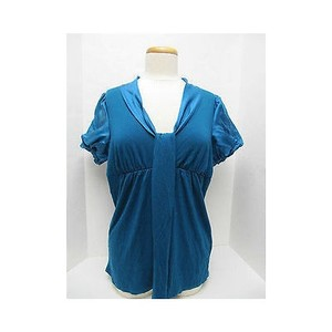 Ella Moss Womens Short Sleeve Top Blues