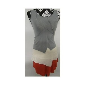Other Womens Sally Miller Couture Cream And Orange Sleeveless Dress