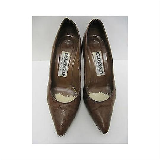 Other Womens Vintage 1980s Strega Ostrich Heels Browns Pumps