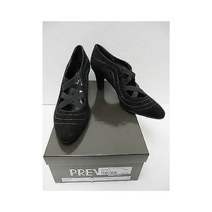 Prevata Womens Yoyo Suede Heels Classics Blacks Pumps