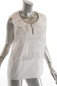 Marni Cotton Pleat Short Sleeve Top White
