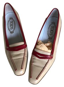 Tod's Beige and Red Pumps