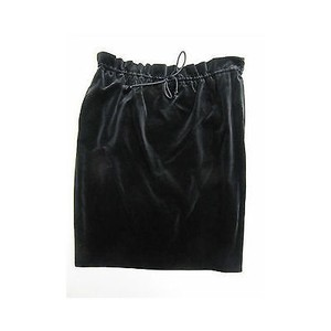 Michael Kors Womens Velvet Drawstring Skirt Blacks