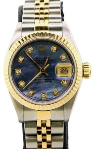Rolex Datejust 18K Yellow Gold Fluted Bezel with Diamond Hour 26MM Watch