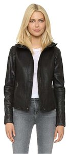 Vince Leather Lambskin Versatile Chic Black Jacket