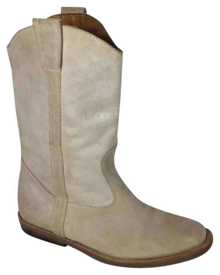 Maison Margiela Boots/Booties Beige Mmm Distressed Suede Boots/Booties Margiela 6a2820