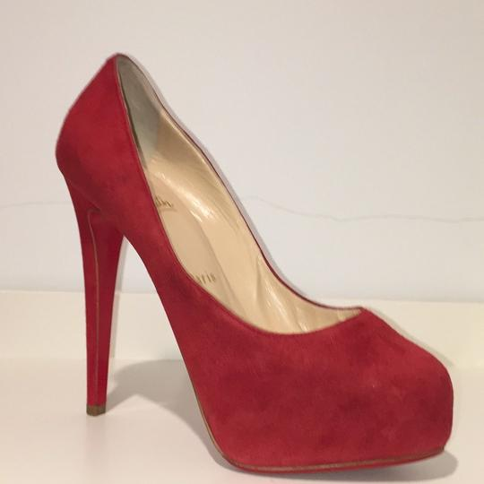 Christian Louboutin red suede Platforms Image 1