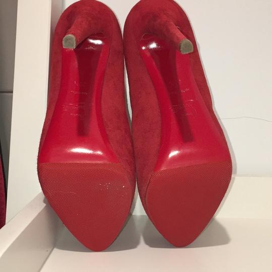 Christian Louboutin red suede Platforms Image 5