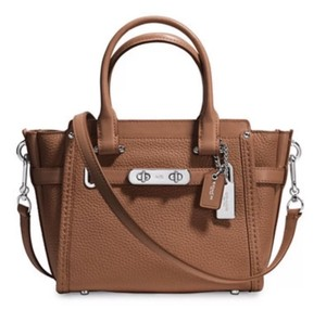 Coach Swagger 21 Carryall 37444 Satchel in Saddle Brown