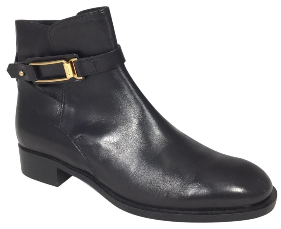 women Tod's Rich Black Classic Leather Boots/Booties Rich Tod's design 5a92d9