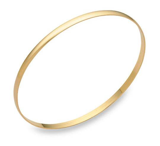 Preload https://item2.tradesy.com/images/apples-of-gold-14k-plain-bangle-2mm-7-bracelet-22278651-0-0.jpg?width=440&height=440