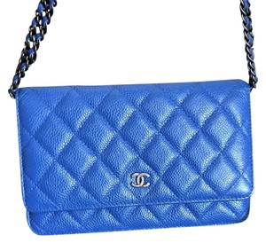 Chanel Woc Wallet On A Chain Caviar Leather Cross Body Bag