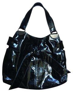 Kooba Hobo Handbag Leather Shiny Shoulder Bag