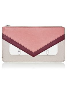 Fendi Monster Pouch taupe Clutch