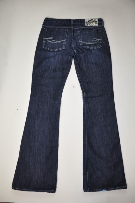 Chip and Pepper Olivia Dark Wash Denim Mid Rise Size 29 Like New Boot Cut Jeans-Dark Rinse