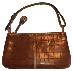 Dooney & Bourke Croc Brown Clutch