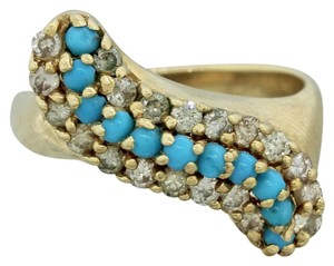 Effy Gold Turquoise And Diamond Ring
