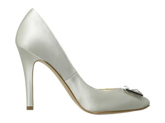Joan & David White Satin Box New In Crystal Rectangle Jewel Pumps Size US 8.5 Regular (M, B) Image 3