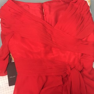 Red Chiffon Mother Of The Bride..homecomings Or Mardi Gras Balls Formal Wedding Dress Size 16 (XL, Plus 0x)