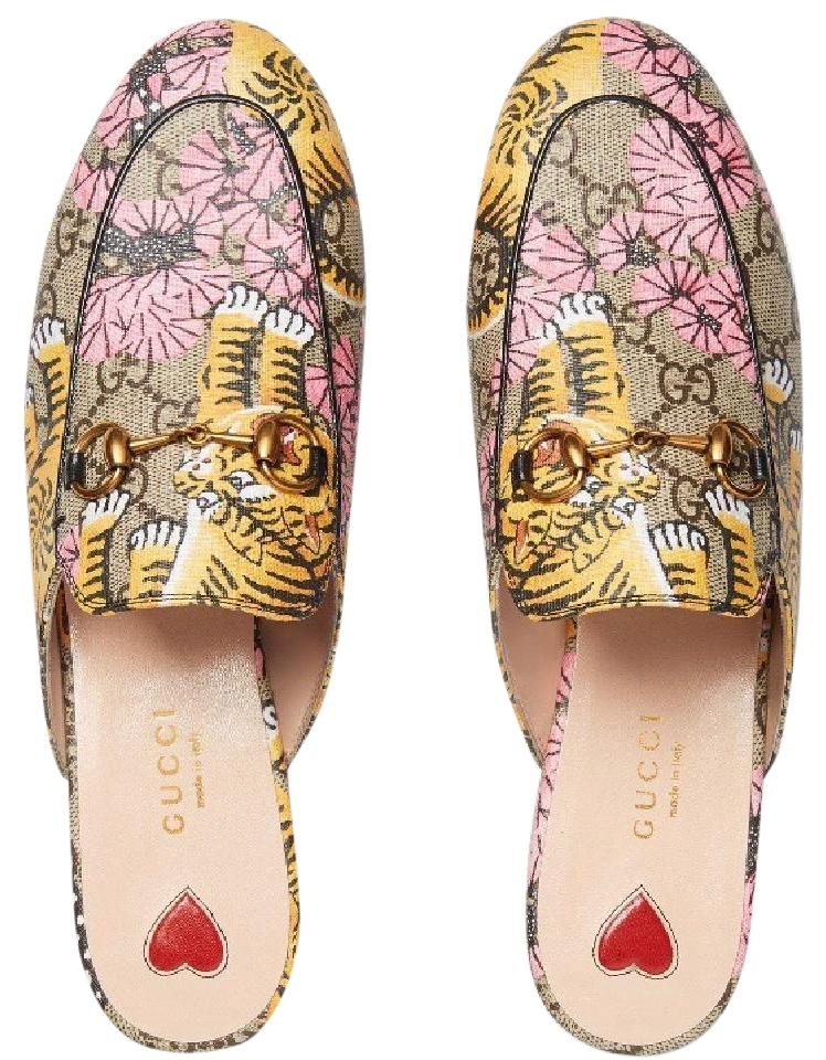 951f25975ad Gucci Multicolor G G Princetown Bengal Slipper Loafer Mules Flats ...