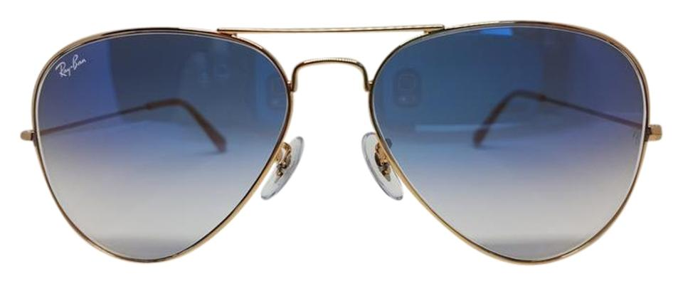 26907b9ac2 Ray Ban Aviator Blue Gradient Gold Frame 001 3f In Singapore ...