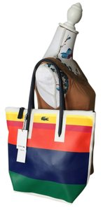 Lacoste Tote in Rainbow