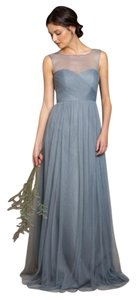 Jenny Yoo Mayan Blue Tulle Aria Soft Feminine Bridesmaid/Mob Dress Size 6 (S)
