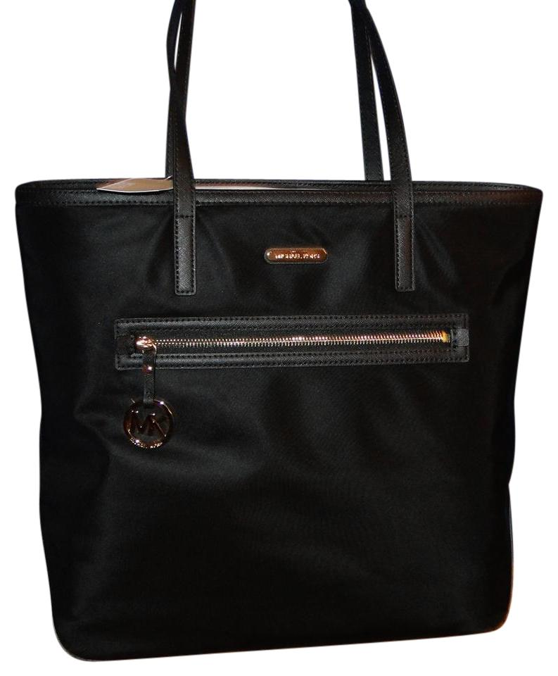 Michael Kors Nylon Kempton Large Tote In Black