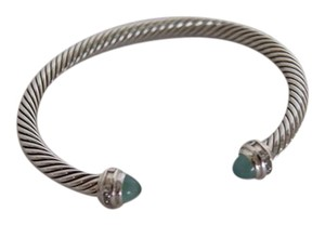 David Yurman David Yurman Diamond & Chalcedony Cable Classics 5mm Bracelet